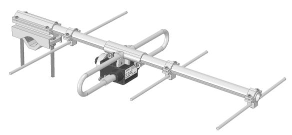 Abbildung 1: CAD-Modell der Vierelement-Yagi von Wipic