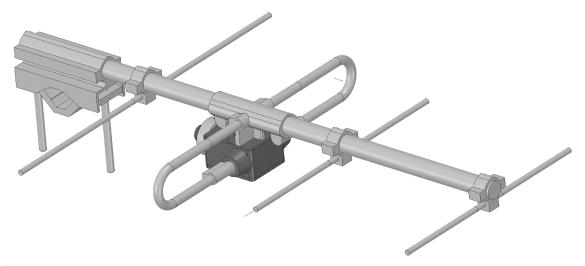 Abbildung 2: Vereinfachtes 3D-Modell für den Import ins CST Microwave Studio