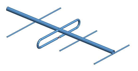 Abbildung 3: Stark vereinfachtes Modell für eine MoM Simulation mit GRASP